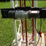 دکل تلسکوپی ثابت با پایه بتنی